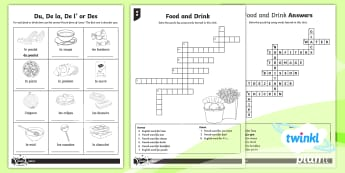 PlanIt French: That's Tasty!: Year 5 Home Learning Tasks - french, languages, grammar, food, drink, breakfast, sandwiches, pizza