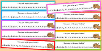 Can You Write Your Letters Multicolour Alphabet Strips - letter