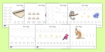 Bush Magic Pencil Control Sheets - australia, bush magic, possum magic, pencil control