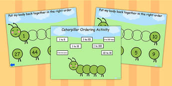 Caterpillar Ordering Flipchart - caterpillar, order, ordering