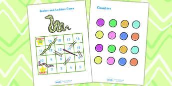 Snakes And Ladders (1-20) - education, home school, child development, children activities, free, kids, math games, worksheets, number work