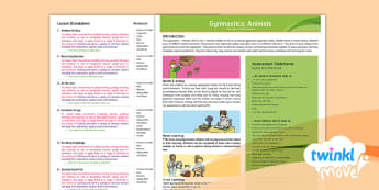 Twinkl Move - Y1 Gymnastics: Animals - Unit Overview - KS1, Key Stage 1, Year 1, Y1, Animals, Science, Gymnastics, Exercise, PE, Physical Education, Sport,