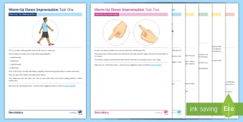 Improvisation Tasks for Dance Activity Pack - dance, choreography, dance improvisation, dance warm-up, dance ideas