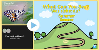 Summer Themed What Can You See PowerPoint English/German - Summer Themed What Can You See PowerPoint - seasons, weather, waether, WHEATHER, seaons, wetaher, we