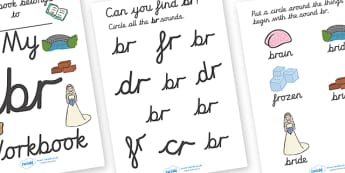 My Letter Blend Workbook 'br' Cursive - letter, blend, workbook
