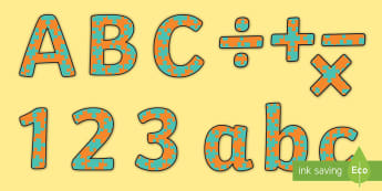 Display lettering resources primary classroom new turquoise and orange jigsaw display lettering spiritdancerdesigns Choice Image