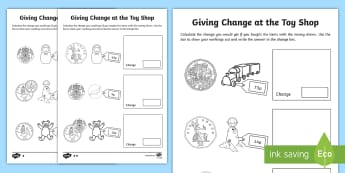 Finding Change - Money & Coins - KS1 Primary Resources