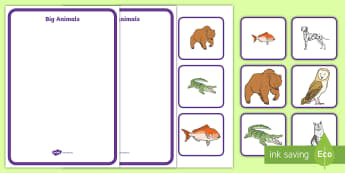 Big and Small Sorting Activity - size, ordering, large, little, maths, EYFS, KS!