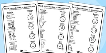 Emotions Activity Worksheets Romanian Translation - romanian