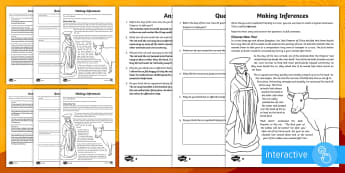Chinese New Year Inference Go Respond Worksheet / Activity Sheet - KS2, Chinese New Year,topical, story, inference, feelings, thoughts, motives, worksheet, actions, ju