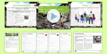 Earthquake Rocks Italy Lesson Pack - Earthquake Rocks Italy, geography, earthquakes, effects, causes