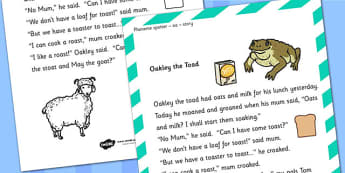 oa Phoneme Spotter Story - phonemes, stories, phoneme spotter