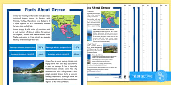 Facts About Greece Differentiated Comprehension Go Respond Activity Sheets - SEO Topic Resources, ks2-around-the-world-europe-greece, greece, comprehension, greek, new-2014-curr