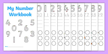 Number Formation 0 to 9 SEN Number Workbook, overwriting