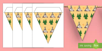 Teepee Themed Display Bunting  - school leavers, classroom, school, decoration,theme