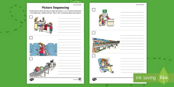 Up, Up and Away Picture Sequencing Activity Sheet - exploring my world, aistear, story, drama, literacy, sequencing, writing, reading, worksheet, Irish