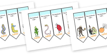 Editable Bookmarks to Support Teaching on James and the Giant Peach - bookmarks, editable bookmarks, james and the giant peach, story book, giant peach editable bookmarks