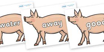 Next 200 Common Words on Pig to Support Teaching on Pig in the Pond - Next 200 Common Words on  - DfES Letters and Sounds, Letters and Sounds, Letters and sounds words, Common words, 200 common words