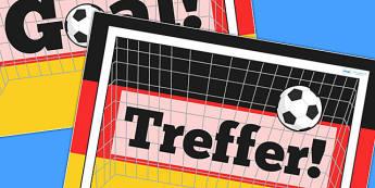 German Goal Display Poster - display, poster, goal, german, sport