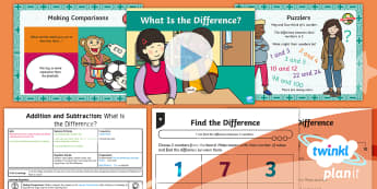 PlanIt Maths Y1 Addition and Subtraction Lesson Pack Difference (2)