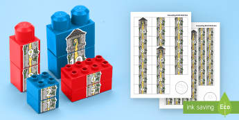 Number Tower to 10 Connecting Bricks Game - EYFS, Early Years, KS1, duplo, lego, plastic bricks, building bricks, Maths, Numeracy, numbers to 10