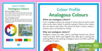 Colour Profile: Analogous Colours Poster - Colours, analogous, display, painting, colour