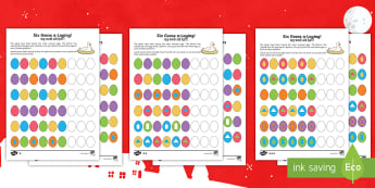 Six Geese Laying Activity Sheet English/Hindi - Christmas Maths, patterns, sequences, colours, shapes, oval, circle, triangle, square, rectangle, ne