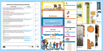 EYFS The Four Seasons Bumper Discovery Sack Plan and Resource Pack - EYFS, seasons, weather, early years