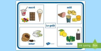 Poster : Le goût - Semaine Du Goût, Octobre, Science, Sens, Cycle 2,Cycle 1