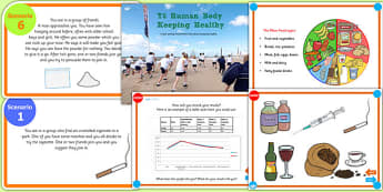 Year 6 Keeping Healthy Alcohol and Drugs Roleplay Teaching Pack