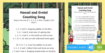 Hansel and Gretel Counting Song - Hansel, Gretel, Grimm, Fairly Tale, Traditional Tale, Singing, Song Time