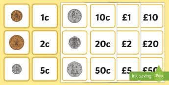 Gwerth Arian Cardiau Cyfatebu - Arian, Money, Rheoli Arian, Manage Money, Wales, money, arian., rhifedd, rheoli arian,cyfnod sylfaen