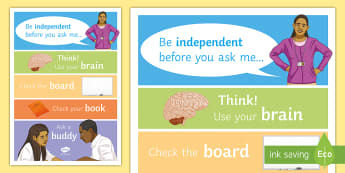 Be Independent Display Poster - displays, posters, motivation