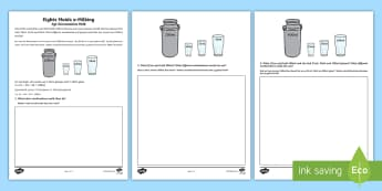 Eight Maids A Milking Activity Sheet English/Afrikaans - Dairy, math, numeracy, addition, suiwel, wiskunde, gesyferdheid, EAL