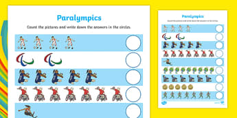 Paralympics Counting up to 10 Activity
