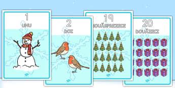 Numerele 0-20 cu imagini de iarnă - Planșe - numerele 0-20, imagini, planșă, iarnă, afișat, de afișat, în clasă, decor, matematică, planșe, numere, materiale, materiale didactice, română, romana, material, material didactic