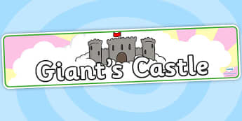 Giants Castle Display Banner - giants castle, jack and the beanstalk, display banner, display, banner, banner for display, display header, header