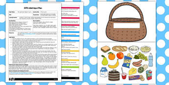 A Picnic Lunch EYFS Adult Input Plan and Resource Pack - picnic