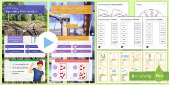 Separation Techniques Revision Pack - KS3, science, revision, separation techniques, separating mixtures, separating, distillation, chroma