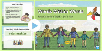 Reconciliation Week Words Within Words Game PowerPoint - Reconciliation Week, indigenous, aboriginal, torres strait island, respect, relationship, acknowledg