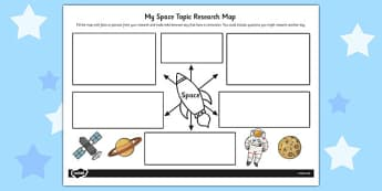 Space Topic Research Map - research map, research, space, topic