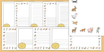 The Runaway Pancake Story Page Border Pack - pancake, pan cake, day, borders, story, writing