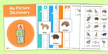 Australian Animals Picture Dictionary Word Card Set - dictionary