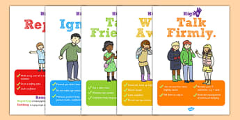 High Five How To Deal with Bullying Display Posters - poster