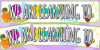 We Are Learning To Display Banner - we are learning to, display banner