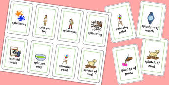 Three Syllable SPL Flash Cards - speech sounds, phonology, articulation, speech therapy, cluster reduction, complex clusters, three element clusters