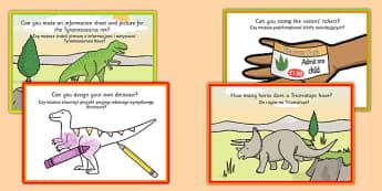 Challenge Cards Dinosaur Park Polish Translation - polish, dinosaur, challenge cards, challenge, cards