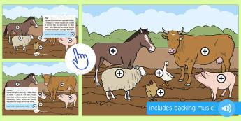 Farm Animals Picture Hotspots, Twinkl Go, twinkl go, TwinklGo, twinklgo