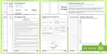 Forgiveness in Religion Worksheet / Activity Sheets - forgiveness, justice, punishment, test from God, suffering, life after death, reward, worksheets