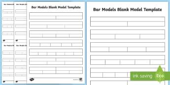 Bar Model Blank Models Template - bar modelling, concrete, visual, singapore maths, shanghai maths, visual aid, learning aid, helpful